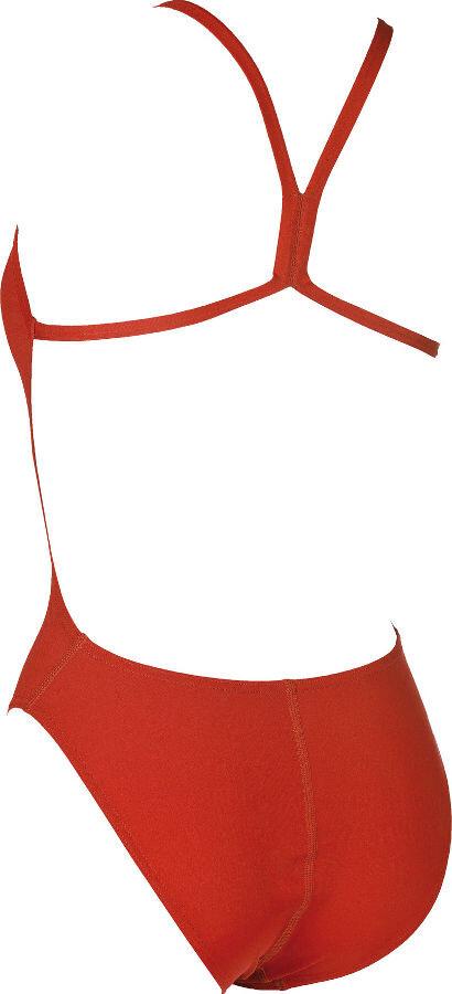 b067b4ce0e9d arena Solid Light Tech High Traje de baño de una pieza Mujer, red-white